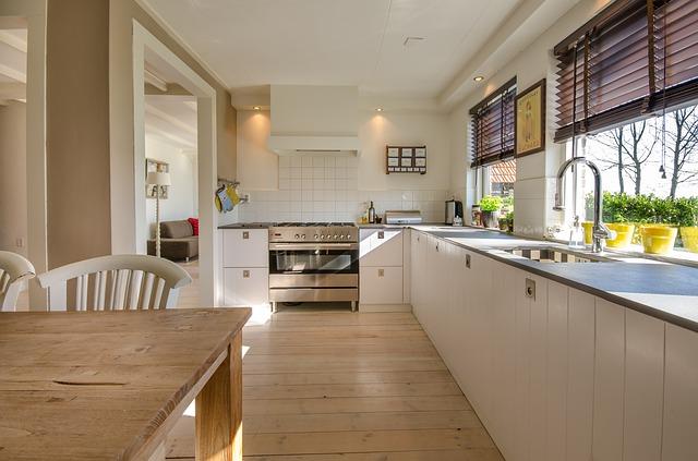 cozinha clara residencial
